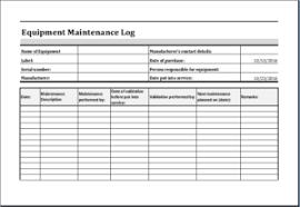 Equipment Service Log Template Equipment Maintenance Log Sheet Magdalene Project Org