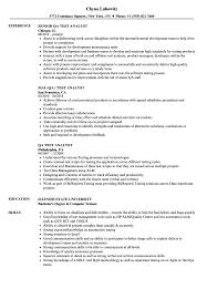 Testing Analyst Resume QA Test Analyst Resume Samples Velvet Jobs 1