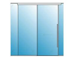 polaris auto magnetic sliding glass door 1