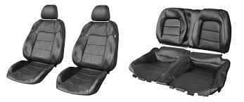 2016 2018 mustang coupe genuine ford black leather front rear seat upholstery