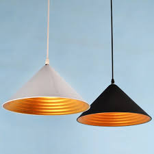 whorl single light cone shaped pendant light