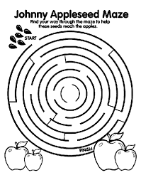 Small Picture Johnny Appleseed Maze Coloring Page crayolacom