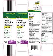 Perrigo Childrens Cetirizine Hydrochloride Oral Solution 1