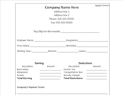 Payment Slip Format In Word Best Pay Slip Template