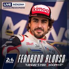 Live Instagram Q&A session with Fernando Alonso today