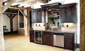 Basement Wet Bar Design Interesting Rustic Bar Cabinet Ideas Appealing Wood Open Wine Best Cabinets Of
