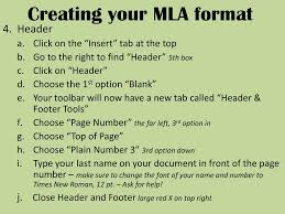Creating Your Mla Format Ppt Download