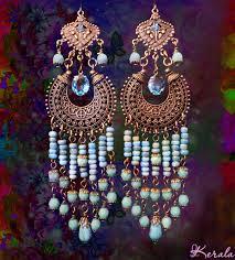 boho chandelier long beaded ethnic boho chandelier earrings turquoise aqua blue