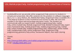 usa matlab assignment help matlab homework help expert tutor home help guidebuddha com 7 usa matlab