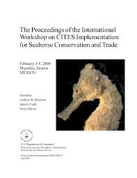 Pdf Mexicos Seahorse Fisheries And Trade National Report