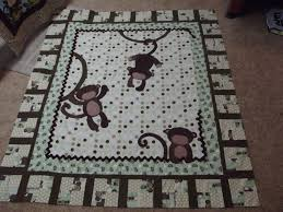 Monkeys! baby quilt and more.... & The quilt measures 60x72