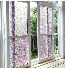 3 of 6 stained geometric static cling window frosted privacy glass tint l and tree branches leaves stained glass static cling