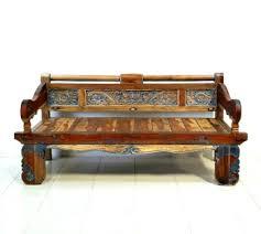 ANTIQUE TEAK BENCH Antique Wooden Bench O43
