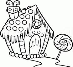 Coloring Pages Extraordinary Gingerbread House Coloringges Free