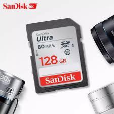 Thẻ Nhớ SanDisk Ultra 2021 + Bán Chạy Nhất, Thẻ SDHC/SDXC SD Class10 16GB  32GB 64GB 128GB, Thẻ C10 UHS-I 80 MB/giây Thẻ Flash Cho Máy Ảnh HD Đầy Đủ