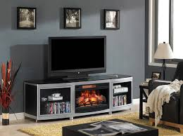 gotham infrared electric fireplace media console in black 26mm9313 d974