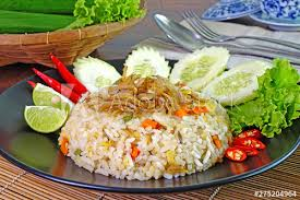 Just be sure the rice is thoroughly cooled. Village Style Fried Rice Malay Countryside Fried Rice Nasi Goreng Kampung Or Spicy Anchovy Fried Rice Famous Malaysian Food Stock Photo Adobe Stock