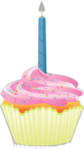 Clipart Cupcake With Candle Birthday Cupcakes With Candle Birthday