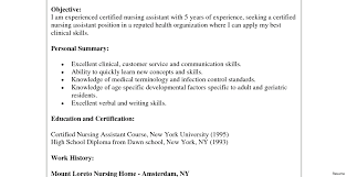 Objective For Cna Resume Cv Draft The Best Layout Templates Word