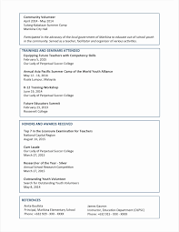 Technical Resume Format For Experienced 2018 Volunteer Experience