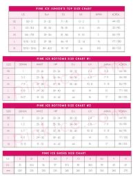 Pink Size Chart Size Chart Pink Ice