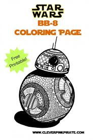 Free Printable Star Wars Bb 8 Coloring Page Clever Pink Pirate
