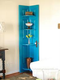 use old door to build the shelf