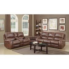 rustic leather living room furniture. Stampley Leather Air Nailhead Manual Reclining Living Room Set With Storage Console And USB Port (Set Of 2) Rustic Furniture