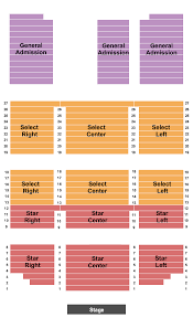 Minnesota Concert Tickets Seating Chart Shooting Star