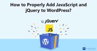 add javascript and jquery to wordpress