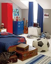 Modern Boys Bedrooms Modern Boys Room With Red Blue Color Scheme Dweefcom Bright