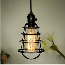 lighting cage. Spider Web Cage Single Bulb Hanging Light- Front Lighting