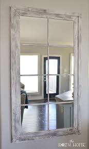DIY RH French Window Pane Oversized Mirror