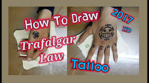 Nako replace her arlong pirates tattoo with a new, custom design. Trafalgar Law One Piece Tattoo Speed Drawing 2017 Hd Chabrouch Youtube