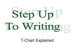 Step Up To Writing T Chart Step Up To Writing T Chart Explained Ppt Video Online