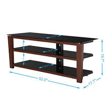 Tv Stand Black Fitueyes 3 Tiers Wood Tv Stand Black Style Tv Stand Tempered Glass