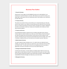 Proposal Outline Template For Word Doc Pdf Format
