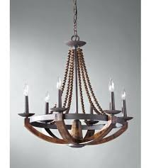 6 light inch rustic iron and burnished metal and wood chandelier 6 light inch rustic iron and burnished wood chandelier ceiling light metal wood chandelier