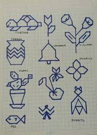 Easy Crosses Drawings Math Graph Paper Drawing And Easy Art Activity