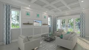 2 tags Contemporary Living Room with Carpet, Box ceiling, Forest Park:  White Oak FP94 Porcelain