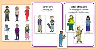 Read through and practice these together. Free Who Are Safer Strangers Sorting Activity