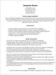 best esthetician resume professional esthetician - Sample Esthetician Resume
