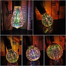 Gelshine Led Light Us 4 99 3d Star Led Bulb E27 Vintage Edison Light Colorful Bombillas Retro Glass Lampara Ampoule Christmas Home Decor Wedding Bar Party In Led Bulbs