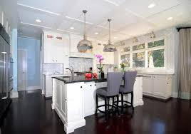 kitchens with white cabinets and dark floors. Open Plan Soft White Cabinets Contrasting Dark Floors Contemporary-kitchen Kitchens With And N