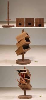 5 3 layers wooden office desk organizer