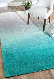 turquoise shag rug. Handmade Soft And Plush Ombre Turquoise Shag Area Rugs, 4 Feet By 6 ( Rug G