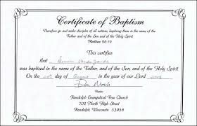 Sample Baptism Certificate Template Stunning Word Certificate Template Lcysne