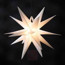 Kunststoff Stern Jumbo ø 1m Außen 18 Zacken Weiß