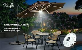 cantilever patio umbrella with led lights offset 11 ft solar