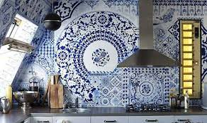 White And Blue Mosaic Tile Designs